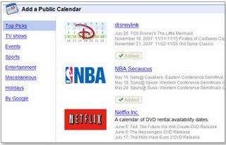 Google Calendar Gallery