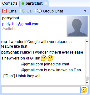 Chat rooms για το Google Talk