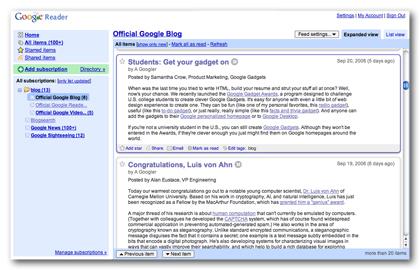 Το Google Reader βγήκε από τα Google Labs