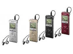 Νέα, πολύχρωμα ψηφιακά recorder φωνής με μνήμη τύπου flash και δυνατότητες MP3