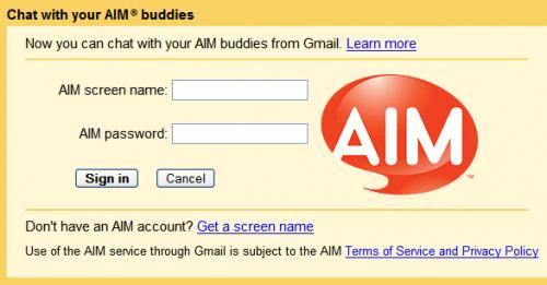 Ενσωμάτωση του AIM στο Gmail