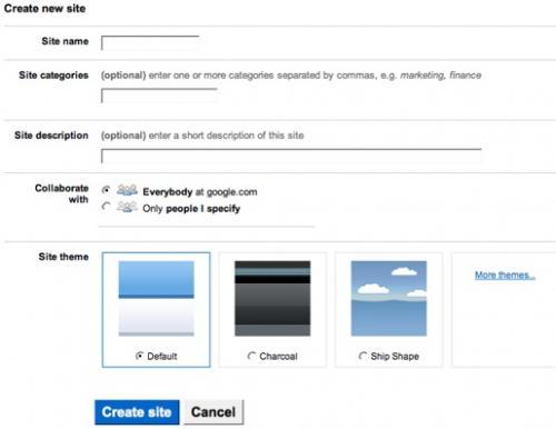 Google Sites - Νέα υπηρεσία του Google