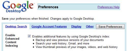 Νέα έκδοση του Google Desktop για windows με αυξημένη απόδοση